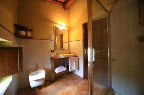 A bathroom at Molino Di Foci