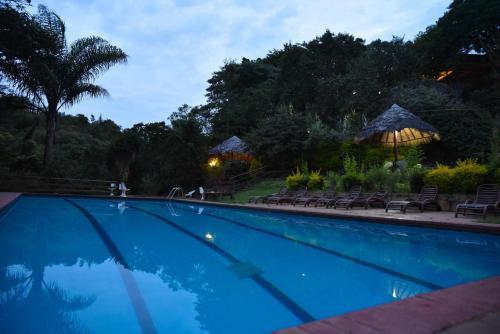 The swimming pool at or close to Masai Lodge
