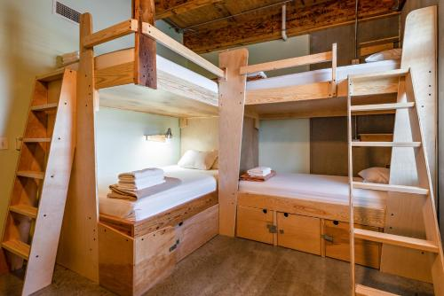 A bunk bed or bunk beds in a room at The Crash Pad: An Uncommon Hostel