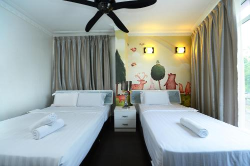 Katil atau katil-katil dalam bilik di Hotel de Art @ Section 7
