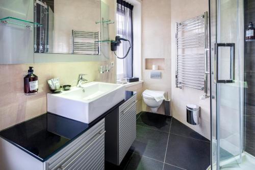 Een badkamer bij Hotel Sint Nicolaas