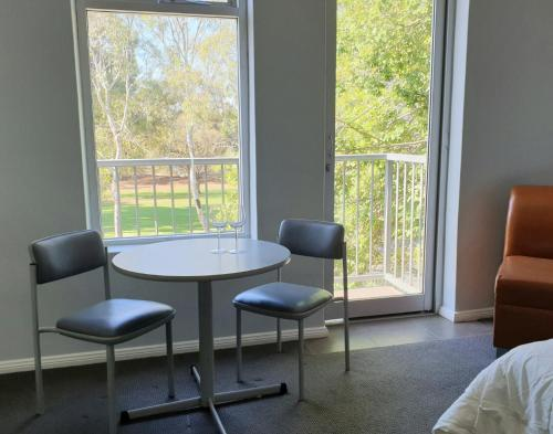 A seating area at Adelaide Pulteney Motel
