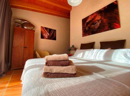 Cama o camas de una habitación en Refugio Marnes