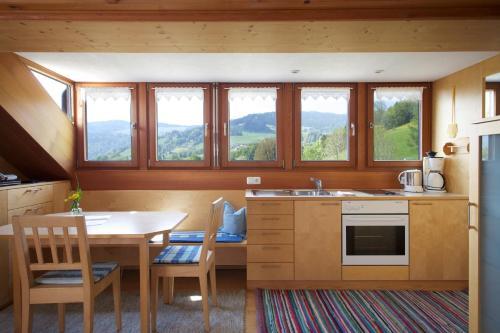 Küche/Küchenzeile in der Unterkunft Bio Ferienbauernhof Greber