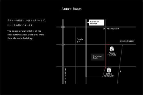 The floor plan of Residential Hotel HARE Kuromon