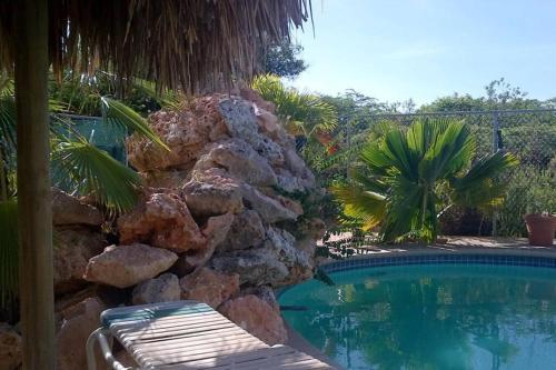 A piscina localizada em KUNUKU-ABOU APARTMENTS CURAÇAO (A) ou nos arredores