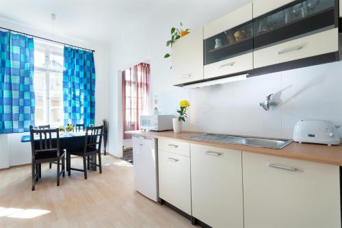 Küche/Küchenzeile in der Unterkunft Ostrovní Apartment