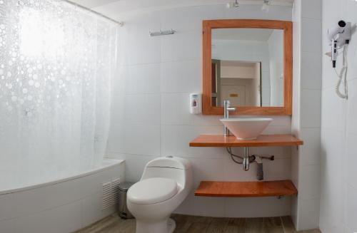 Um banheiro em Hostal Casa Aborigen