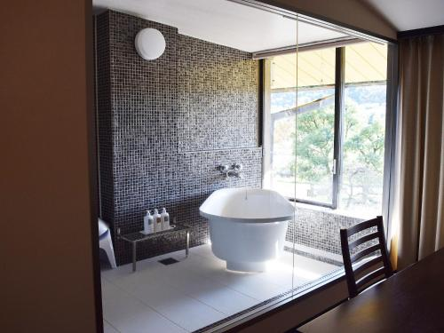 A bathroom at Hotel Nagaragawa No Sato