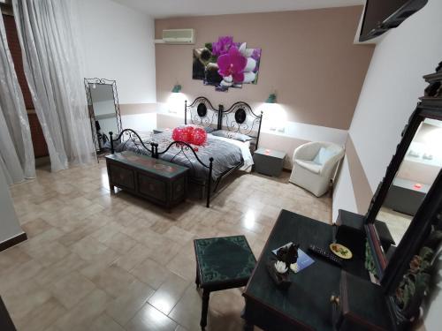 Area soggiorno di Bed & Breakfast Villa Flora