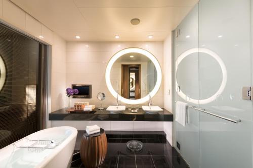 A bathroom at Conrad Tokyo