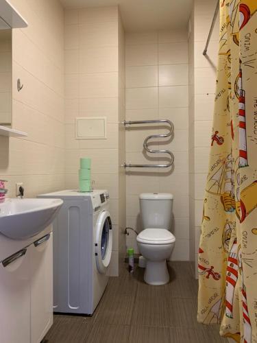 Ванная комната в Апартаменты Акварель 3