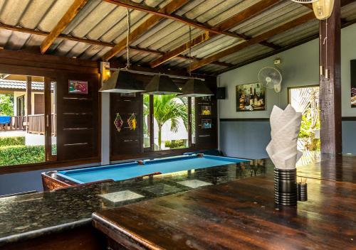 A billiards table at Phatcharee Resort