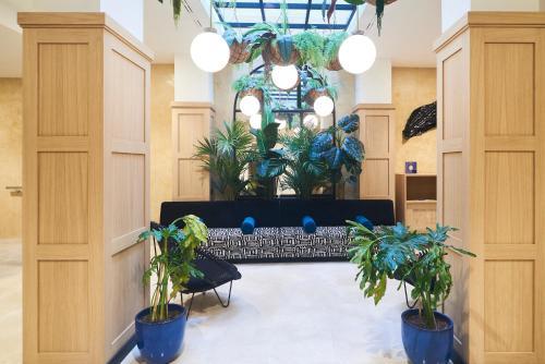 El vestíbulo o zona de recepción de Slow Suites Setas