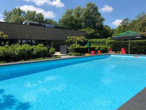 The swimming pool at or near Novotel Rotterdam Schiedam