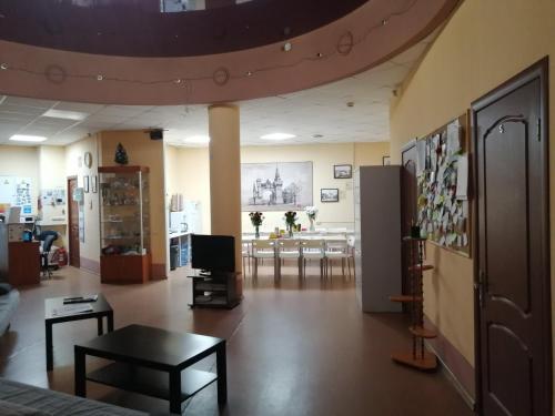 The lobby or reception area at Бугров Отель