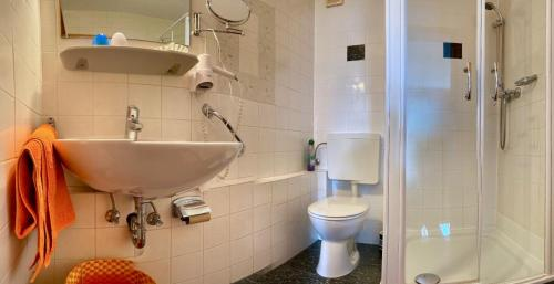 Ein Badezimmer in der Unterkunft Landhaus Vieth