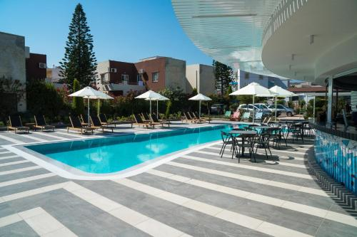 The swimming pool at or close to Evdokia Suites