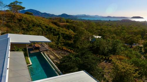 A view of the pool at Amazing ocean view in a luxurious villa or nearby