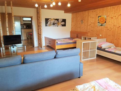 Ein Sitzbereich in der Unterkunft Monteurwohnung Ferienwohnung Landshut