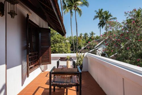 A balcony or terrace at Sanctuary Hotel Luang Prabang