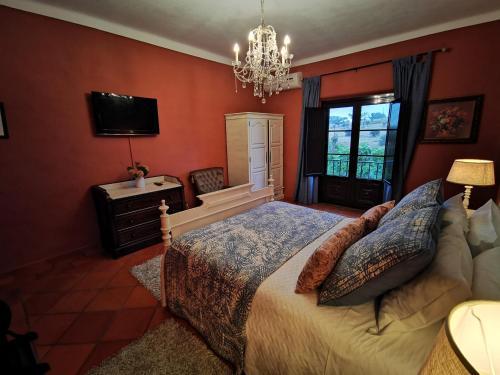 Un ou plusieurs lits dans un hébergement de l'établissement Monte Alerta Turismo Rural