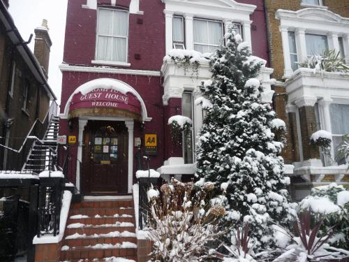Crompton Guest House during the winter