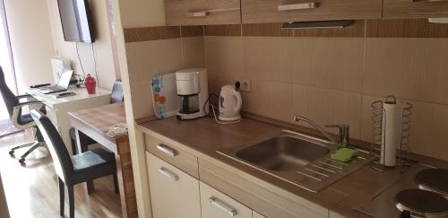 A kitchen or kitchenette at Alpe-Adria Apartments