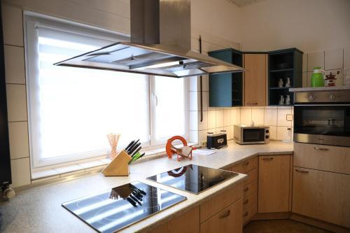 A kitchen or kitchenette at Landhaus Schlossberg