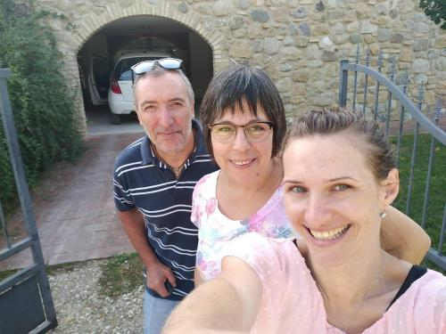 A family staying at Borgo da Vinci