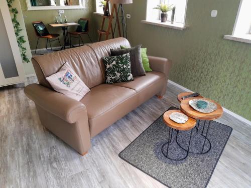 Ein Sitzbereich in der Unterkunft Gasthaus Duther Schleuse