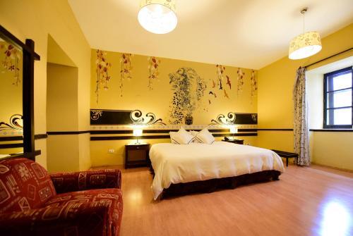 Cama o camas de una habitación en Yabar Hotel Plaza