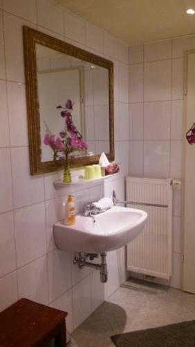 A bathroom at Cityhotel Junger Fuchs