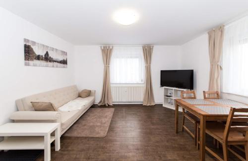 Ein Sitzbereich in der Unterkunft Schönes 2-Zimmer-Appartment in Reutlingen Zentrum