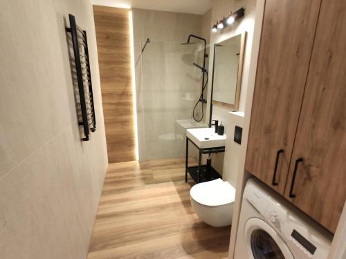 Koupelna v ubytování Green Warsaw Apartment