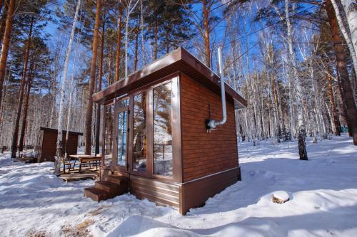Гостиница Политехник during the winter