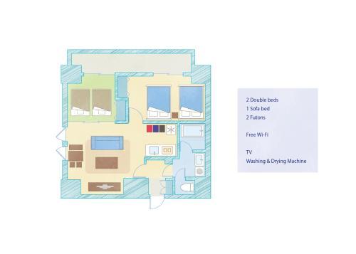 Vacation room Inaricho 9の見取り図または間取り図