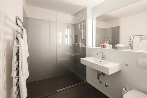 Ein Badezimmer in der Unterkunft Baseltor Hotel & Restaurant
