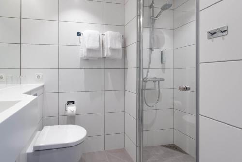 Et badeværelse på Thon Hotel Parken