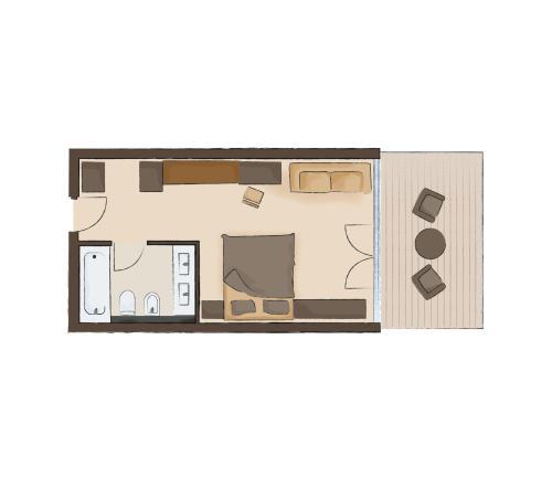 The floor plan of Family Resort Rainer