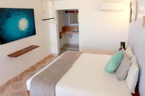 Cama o camas de una habitación en Casa Blat-Ha Holbox by Tribe Hotels