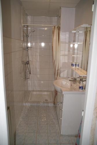Koupelna v ubytování Gîte Mille Fleurs