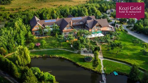 Widok z lotu ptaka na obiekt Hotel Kozi Gród