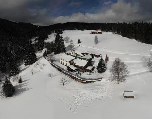 Horská chata Amor v zimě