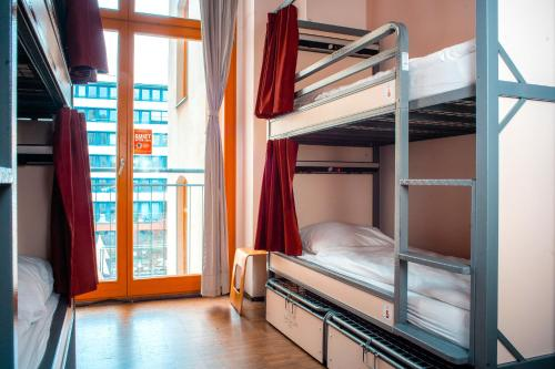 A bunk bed or bunk beds in a room at St Christopher's Inn Berlin Mitte