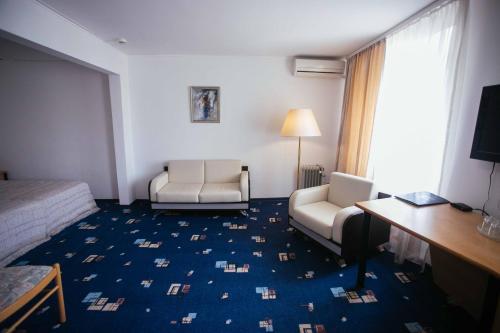 Гостиная зона в Гостиница Балаково