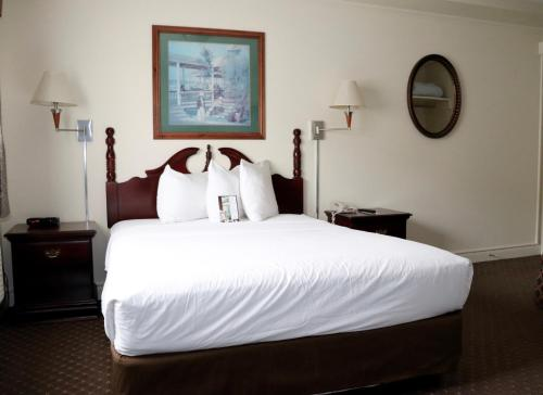 A bed or beds in a room at Senator Inn & Spa
