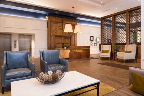 The lobby or reception area at Hotel Indigo Baltimore Downtown, an IHG Hotel