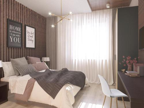 A bed or beds in a room at Ahotels Design Style Apart on Sovetskaya