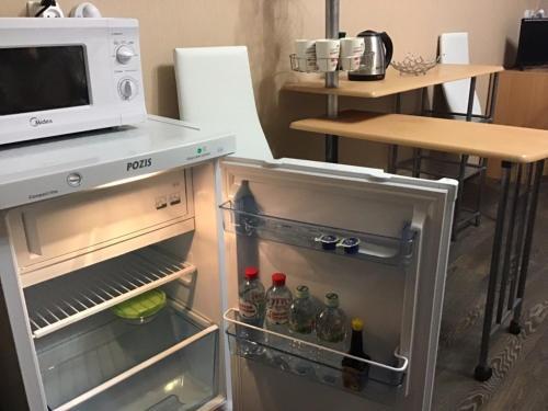 Кухня или мини-кухня в Hotel Prichal